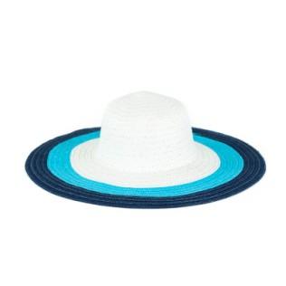 Kolorowy i wielki kapelusz na lato