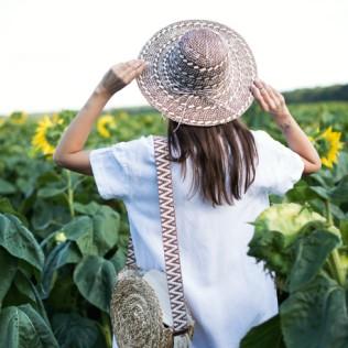 Przeplatany kapelusz na lato