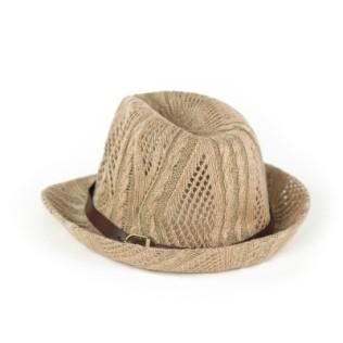 Miękki kapelusz trilby na lato