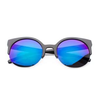 Okulary damskie lustrzane Blue Cat Eye