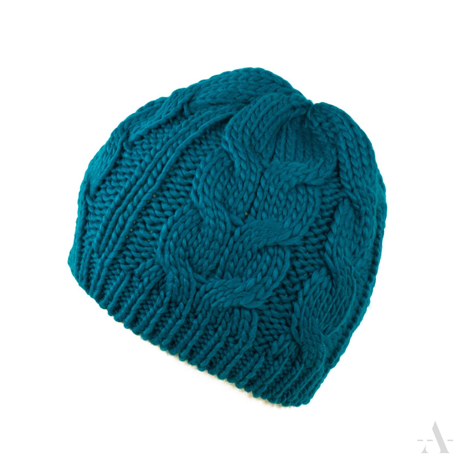 женская шапка узор плетенка